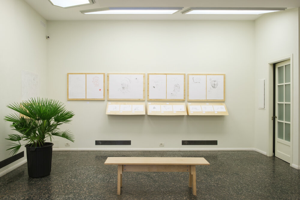 Міша Букша. Primitive People. Експозиція виставки у Dymchuk Gallery. Автор фотографій: Максим Білоусов. Надано Dymchuk Gallery