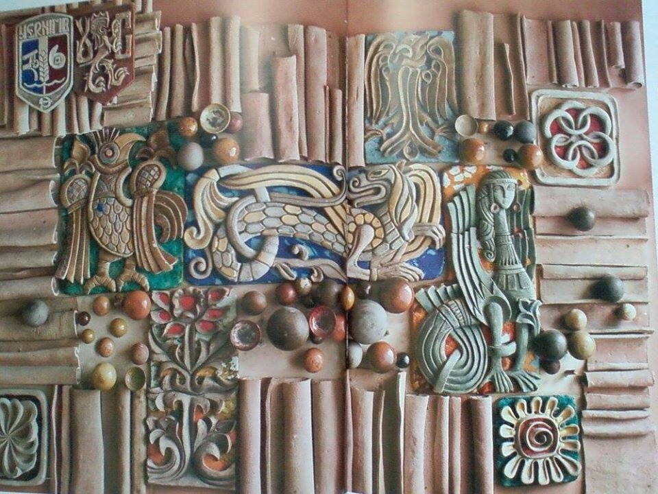 Готель «Градецький», Чернігів, панно: Галина Севрук, 1983. Фото надане авторкою