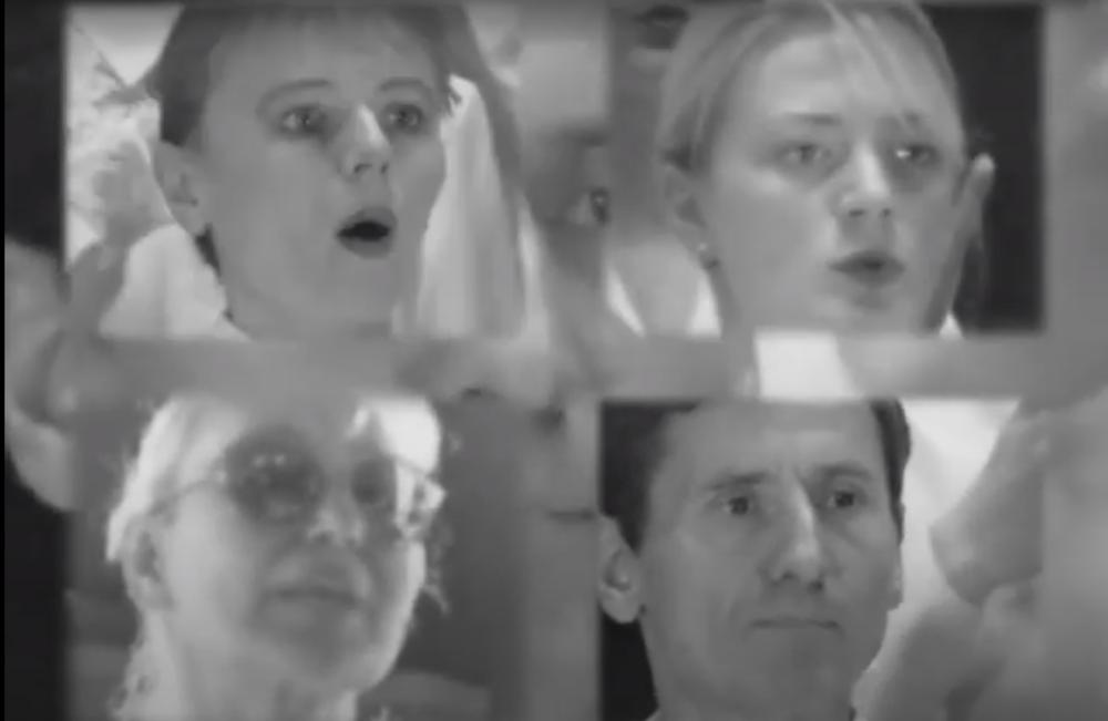 Оксана Чепелик, «Хор глухонімих», 1998–2004. Відеоінсталяція, 5' 8''