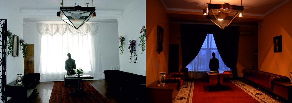Музей до та після реконструкції 2011—2012 р.р. Робота Даніїла Галкіна «Перевертень»