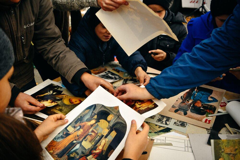 Воркшоп із колажування, Кмитів, Житомирська область. Фото: Руслан Сингаєвський