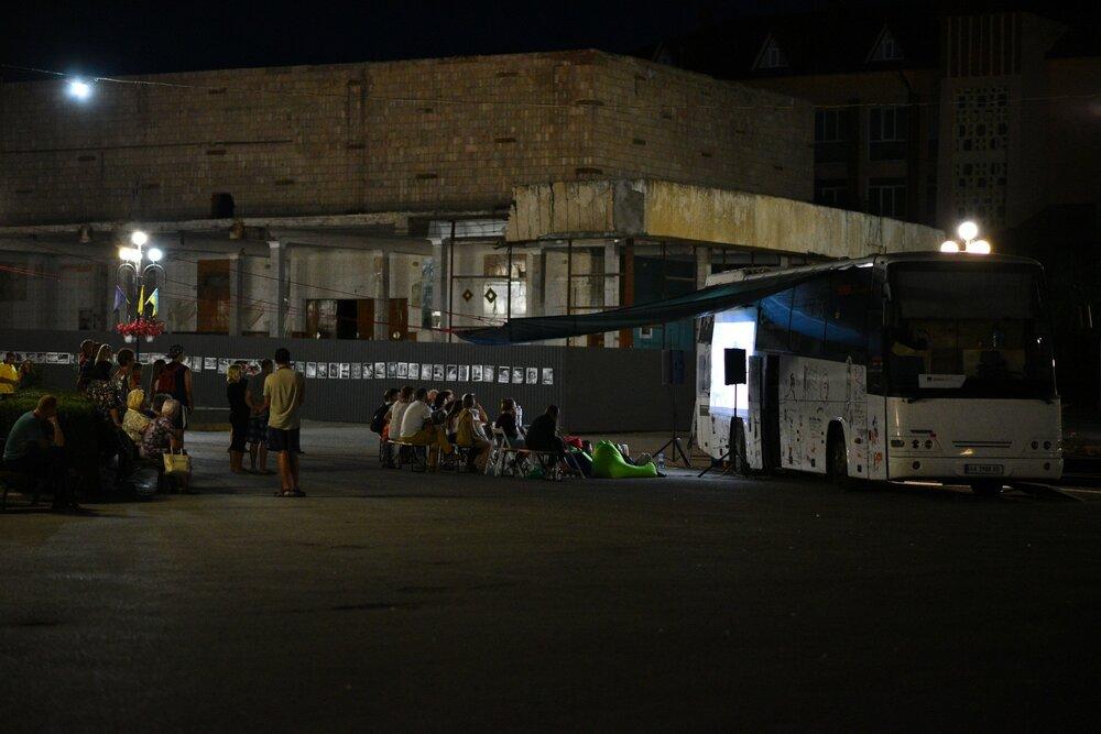 Кінопоказ у Чорткові, Тернопільська область. Фото: Руслан Сингаєвський