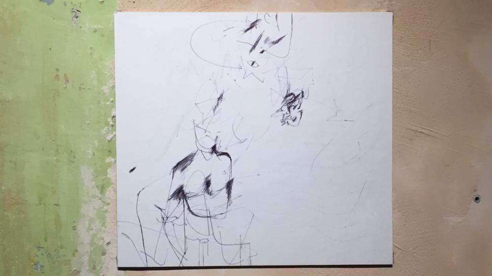 Відтворений Катериною Бучацькою малюнок де Кунінґа. Надано Марком Чегодаєвим