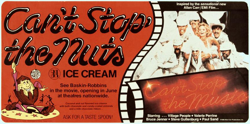 Реклама горіхового морозива Baskin-Robbins за мотивами фільму «Музику не спинити»