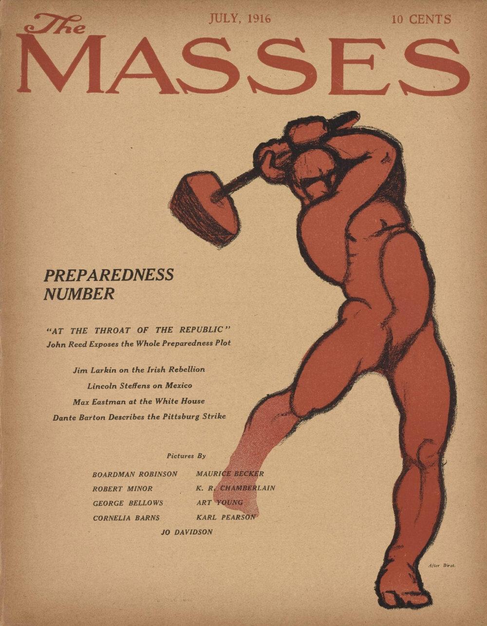 Обкладинка журналу «Маси» за 1916 рік