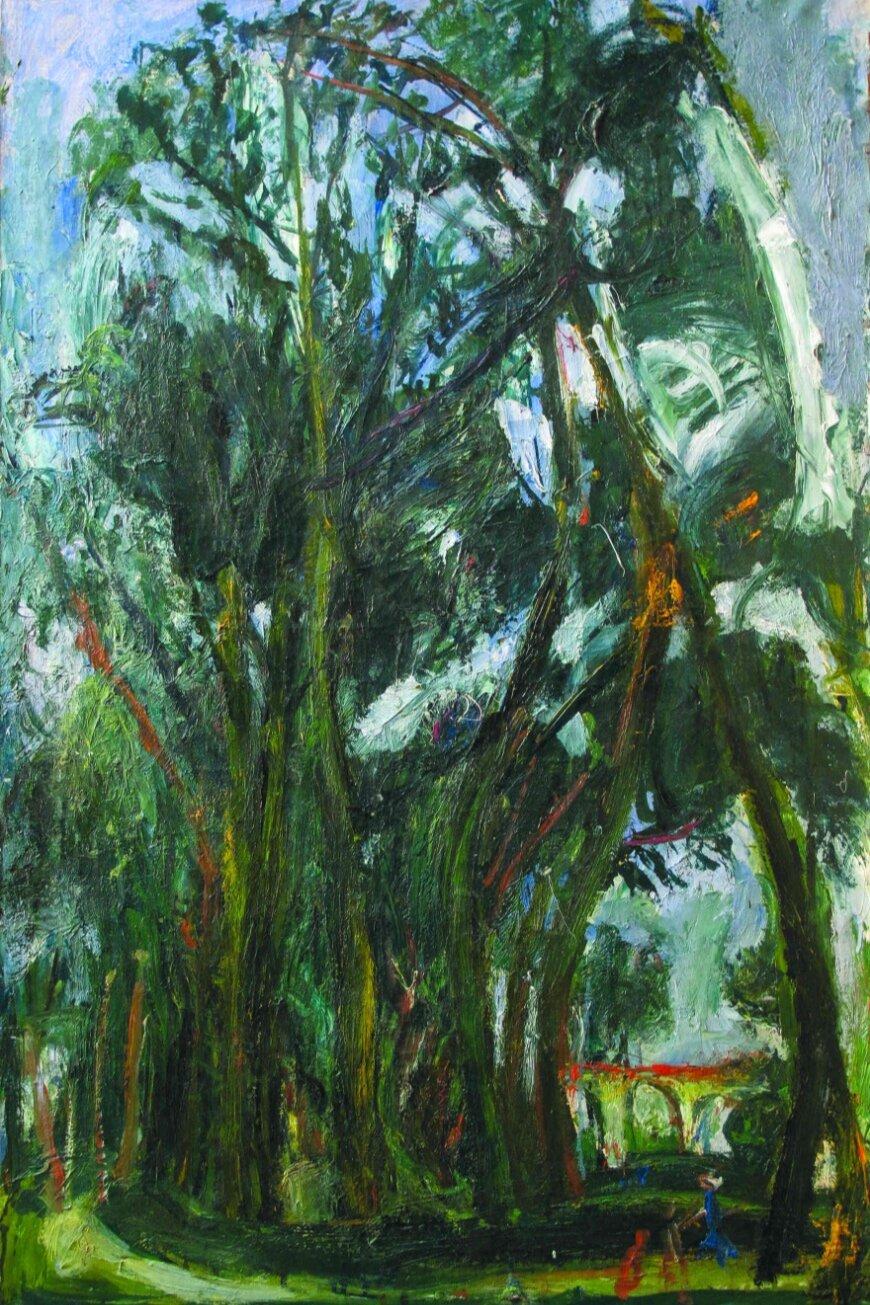 «Большие луга в Шартре, возле виадука»,  Сутин Хаим , Около 1934 г. Джерело:  Art Belarus