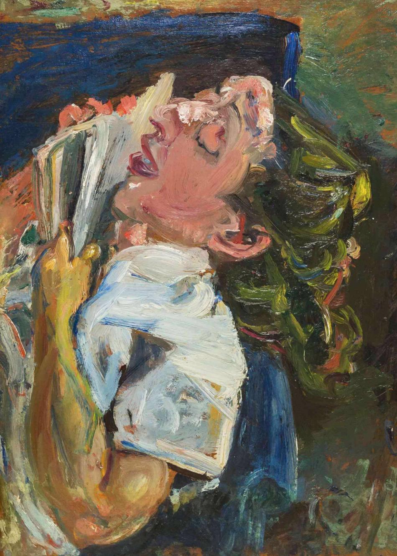 «Уснувшая читательница, Мадлен Кастен»,  Сутин Хаим , около 1937. Джерело:  Art Belarus
