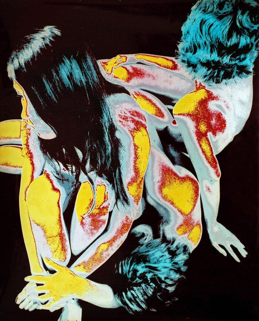 Олег Малеваный. Акт III. Композиция. 1972, многослойная, пигментная, 8-цветная печать. Grynyov Art Foundation.