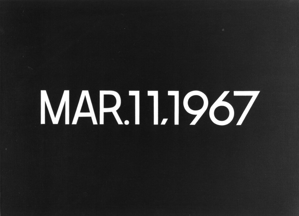 On Kawara, 'Mar.11,1967,' from the 'Today' series
