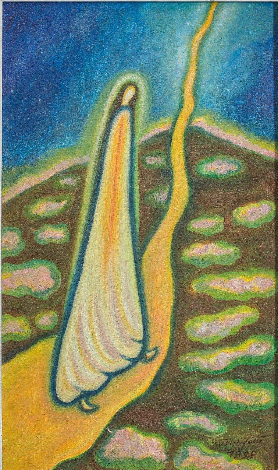 Олена Бурдаш. Дорога в Небо. 1998 р. Збірка Музею сучасного українського мистецтва Корсаків