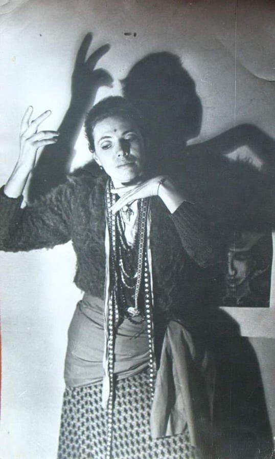Олена Бурдаш у Львові. 1977 р. Фото Григорія Порицького.