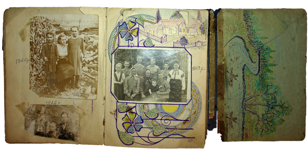 Фотоальбом Ганни Іванцової (Слупської). Джерело: Меморіальний музей «Територія Терору»