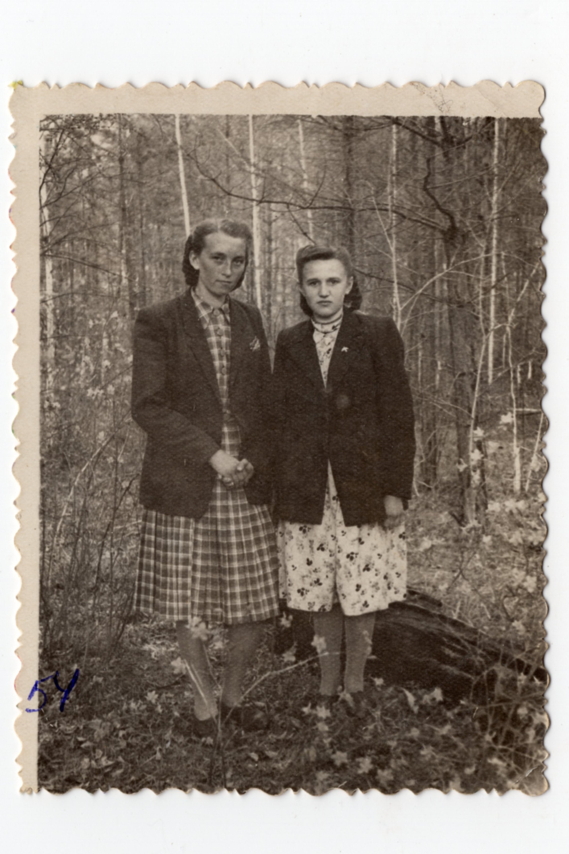 Фото, яке Стефанія відправила батькові у табір в Казахстані, 1954. Джерело: Меморіальний музей «Територія Терору»