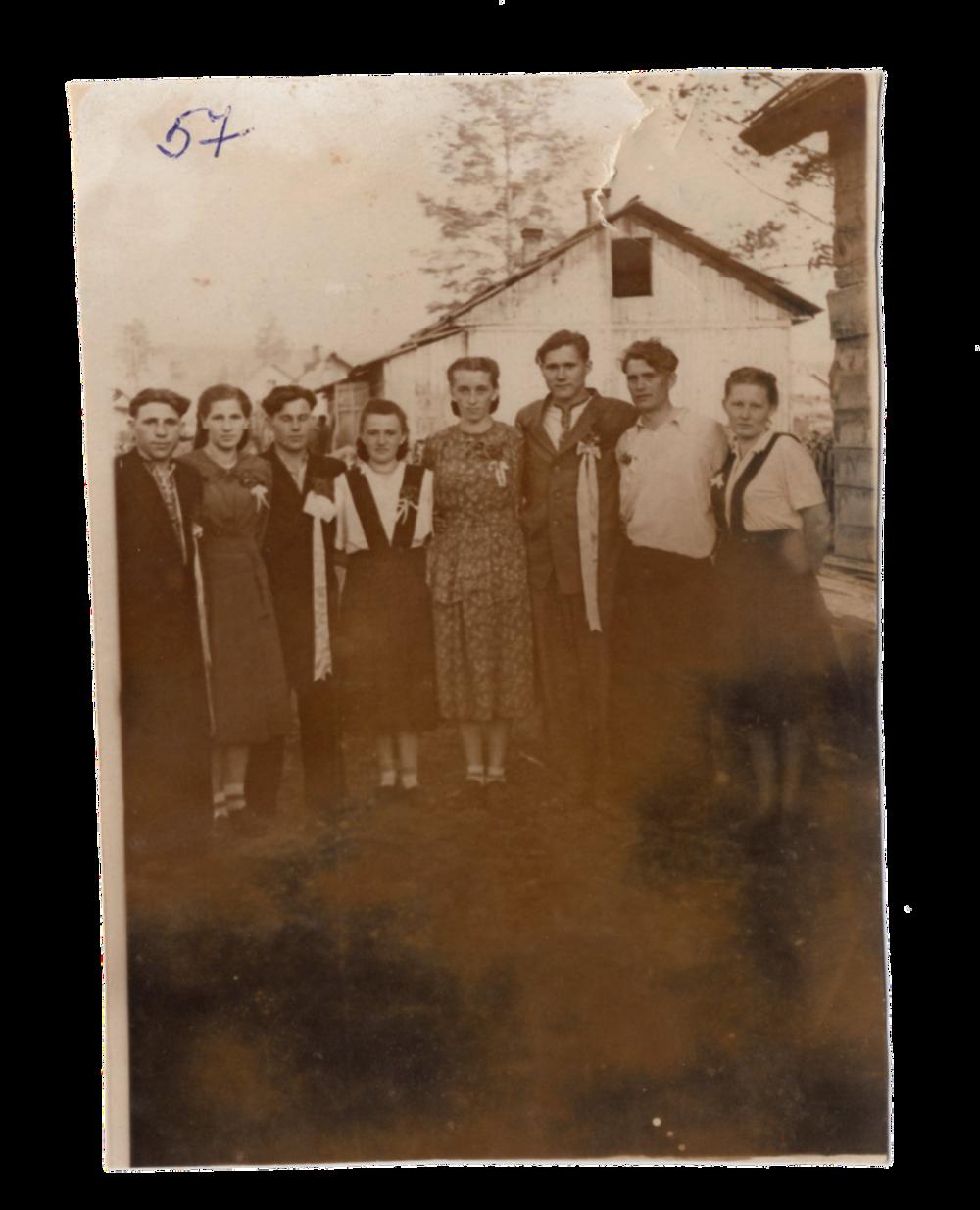Весілля спецпоселенців, поселення Алгач, 1957. Джерело: Меморіальний музей «Територія Терору»