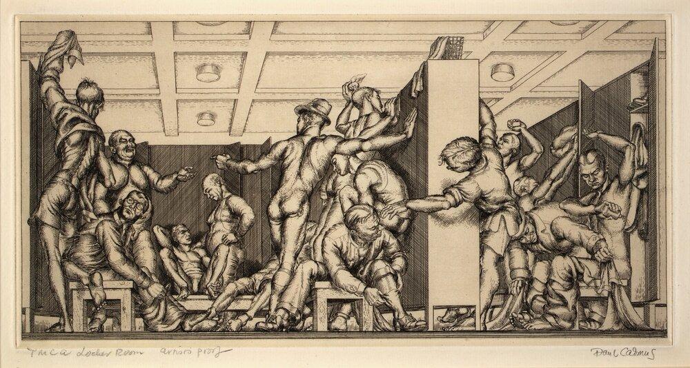 Пол Кадмус «Роздягальня YMCA» (1934)