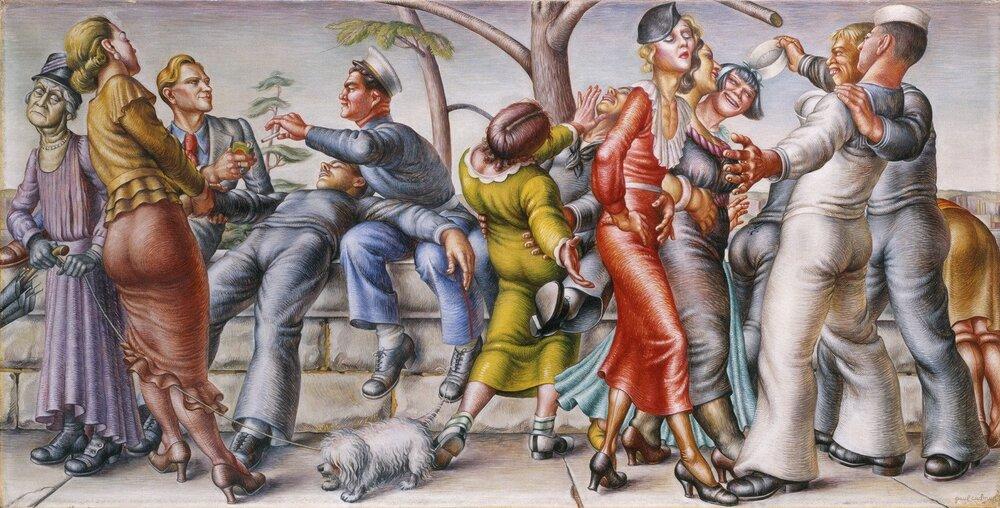 Пол Кадмус «Флот на березі» (1934)