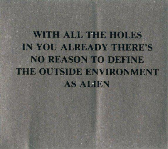 Jenny Holzer «Survival: with all the holes...» (1989, New York)