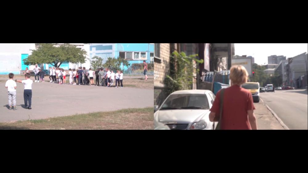 Скріншот із відео «Прогулянка» Катерини Берлової