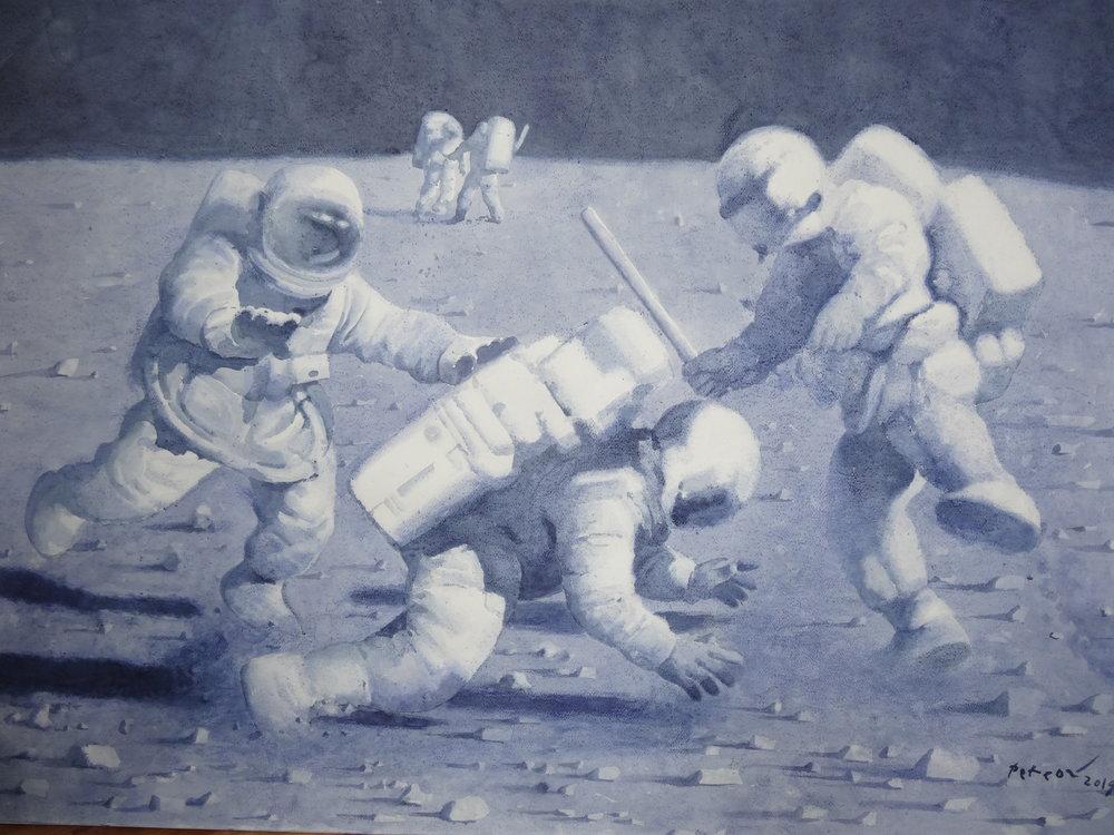 Євген Петров. «Битва за марс», 2019. Галерея «Цех»