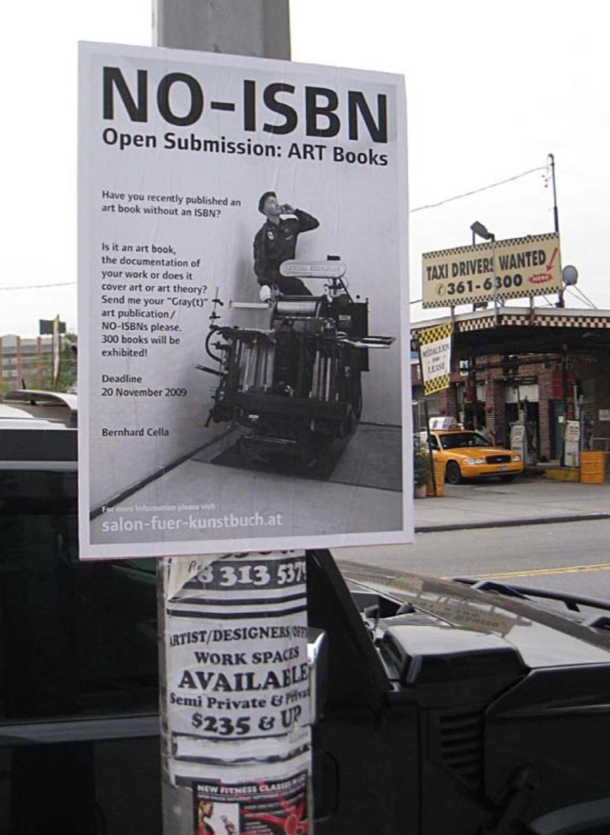 Бернхард Целла, call для NO-ISBN видань, Нью-Йорк, 2009