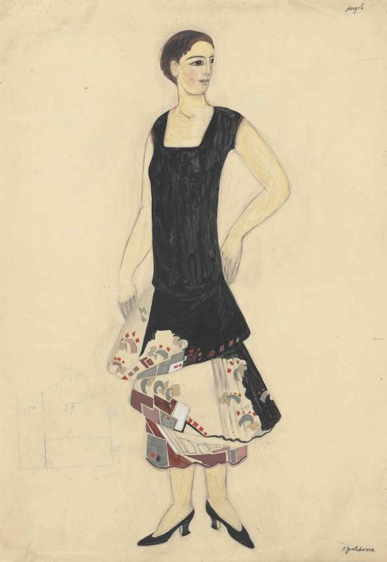 Ескіз сукні для будинку мод Myrbor, 1927