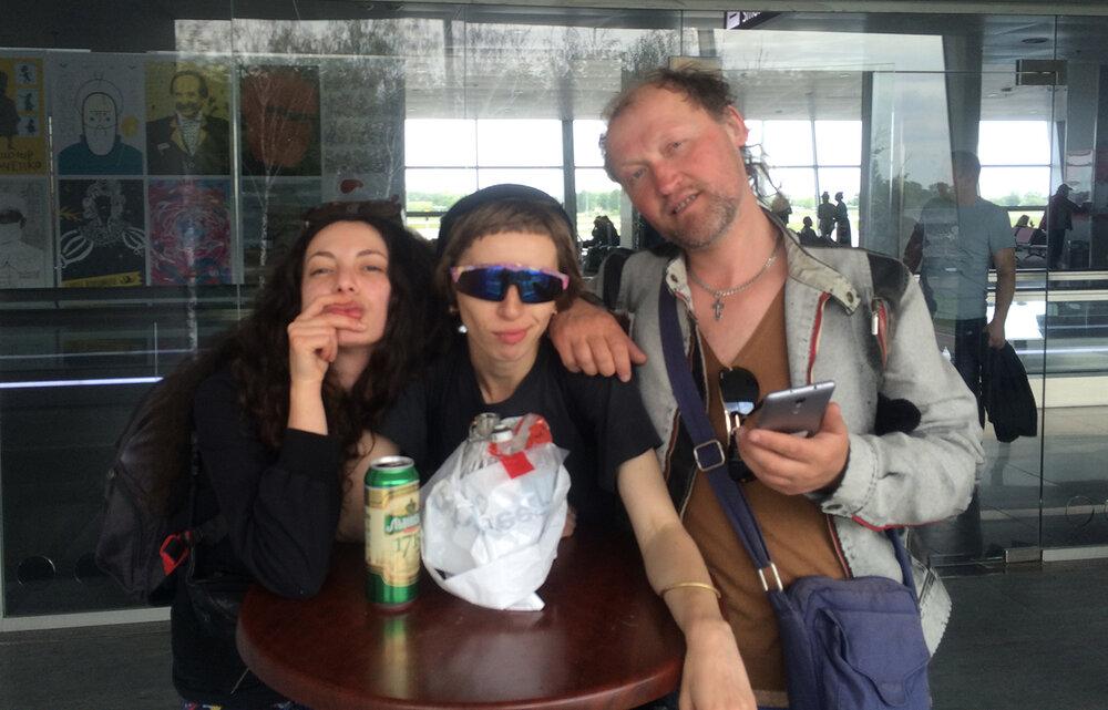 У Борисполі, перед вильотом у Відень. Надано Фанні