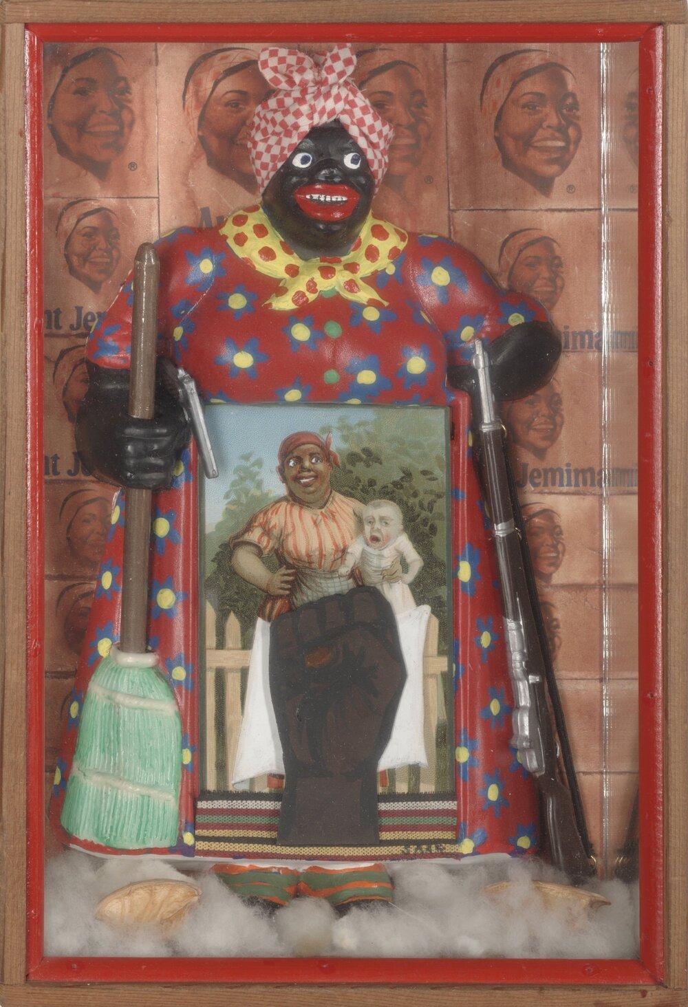 «Освобождение тетушки Джемимы», Бетти Саар, 1972, Лос Анджелес, Музей искусства Беркли