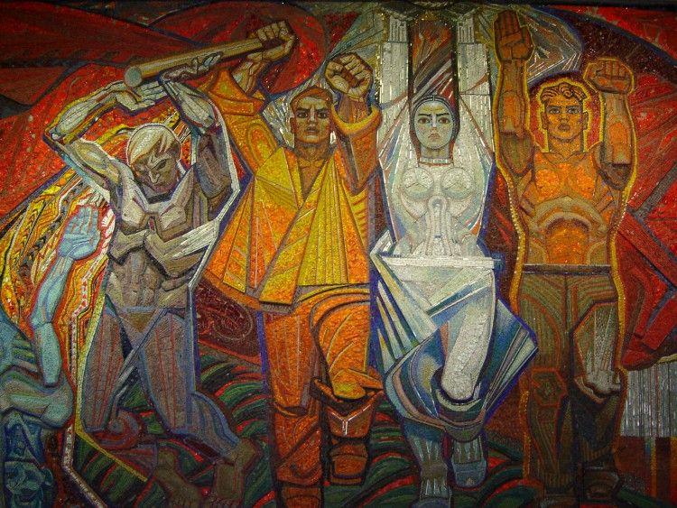 Монументальне панно Алли Горської та Віктора Зарецького «Флаг перемоги»