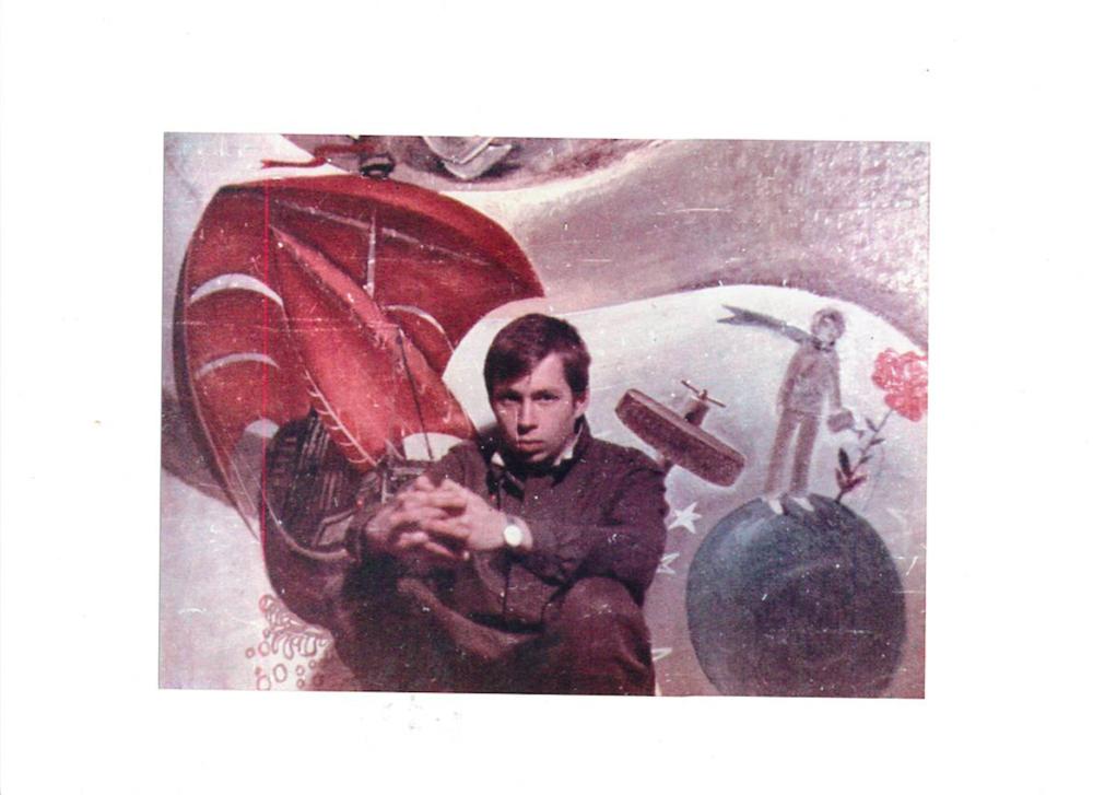 Олег Голосій. Портрет з армії. Світлина надана галереєю The Naked Room та Маєтком художника Олега Голосія