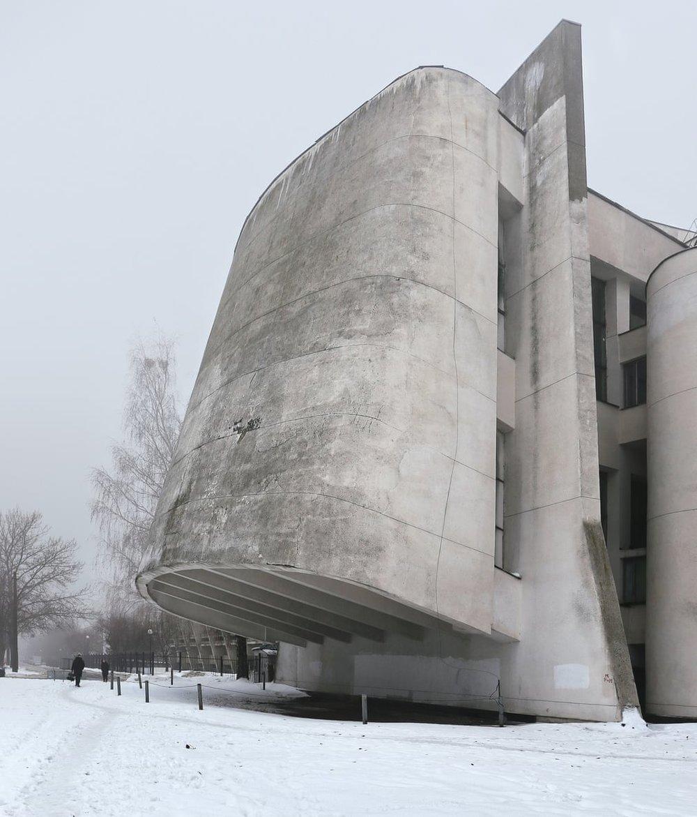Факультет університету ім. Тараса Шевченка, побудований в 1972—1980 рр. У Голосіївському районі Києва