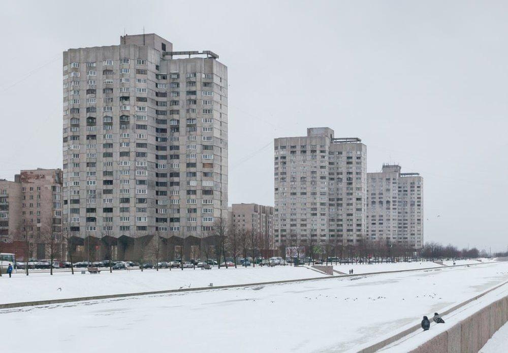 Новосмоленський житловий комплекс, Санкт-Петербург, побудований у 1986 році