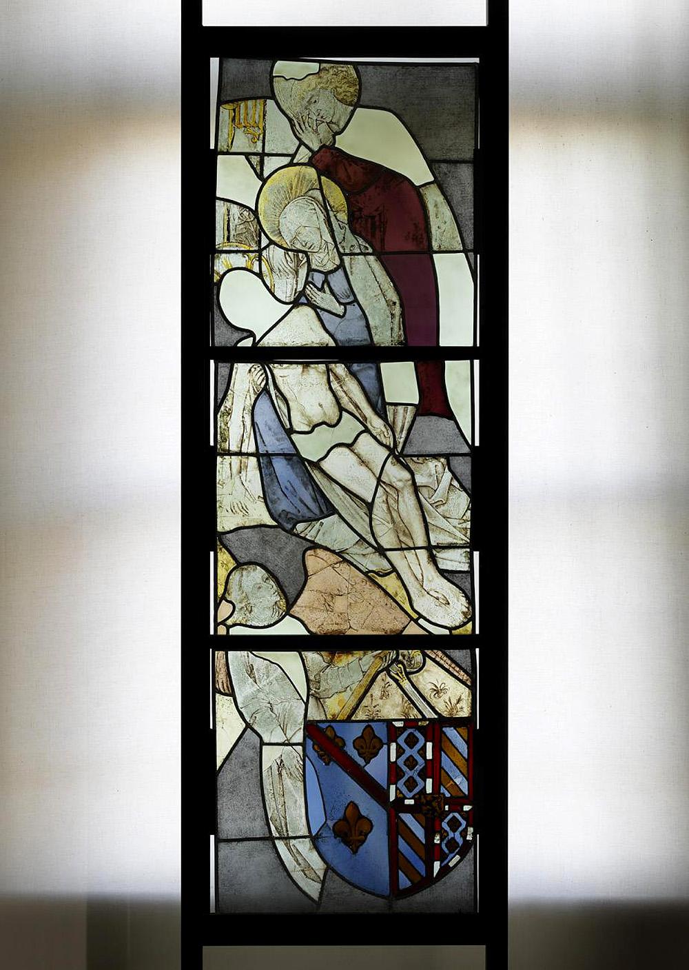 Невідомий автор. «Оплакування Христа». Вітраж. замок Лоппе.