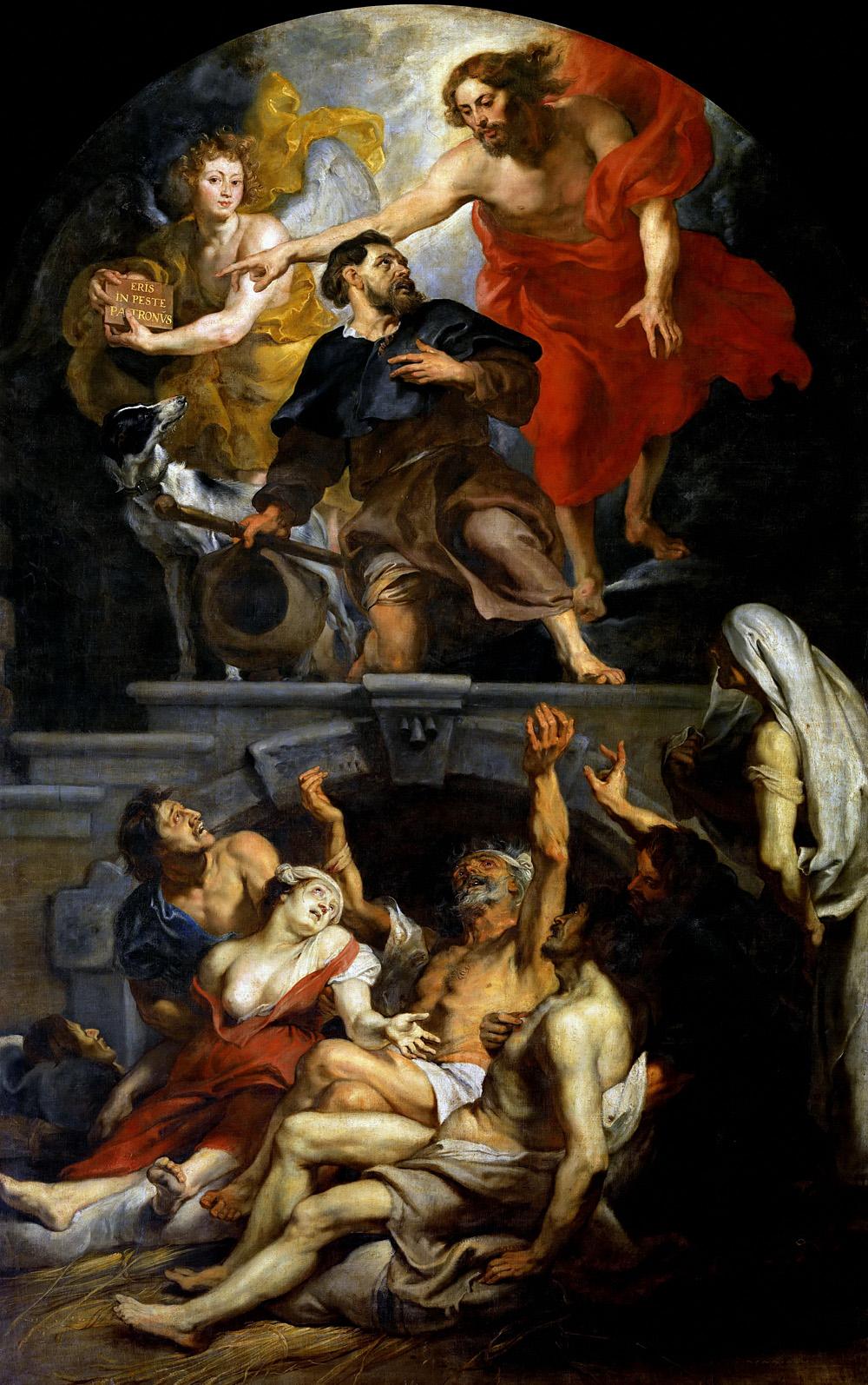 Пітер Пауль Рубенс. «Христос призначає святого Роха святим покровителем хворих на чуму». Алст. Церква Св. Мартіна.