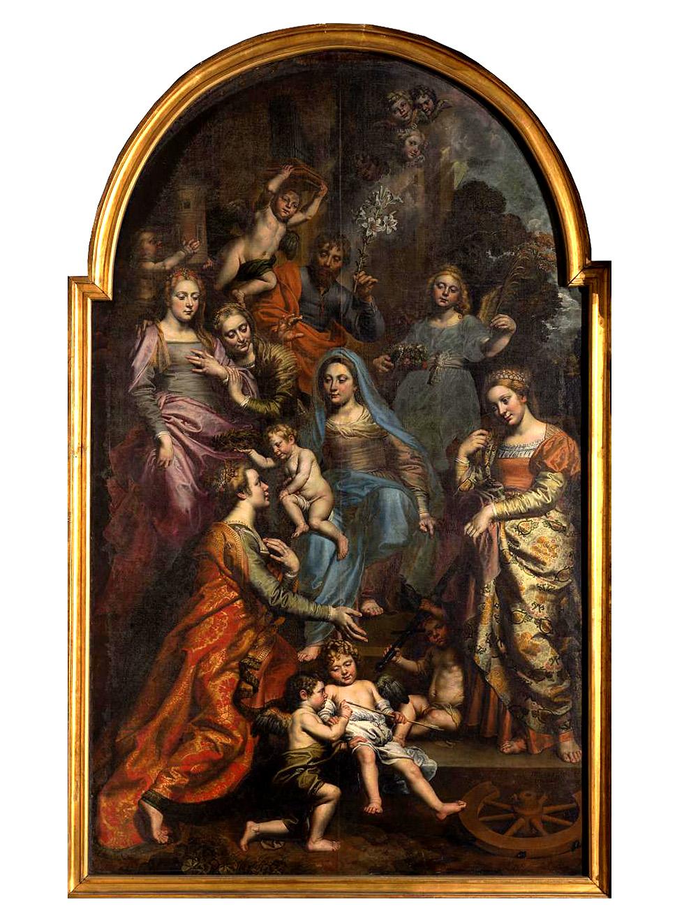 Теодор ван Лоон. «Ісус коронує святу Урсулу. Церква при бегинаж в Брюсселі»..