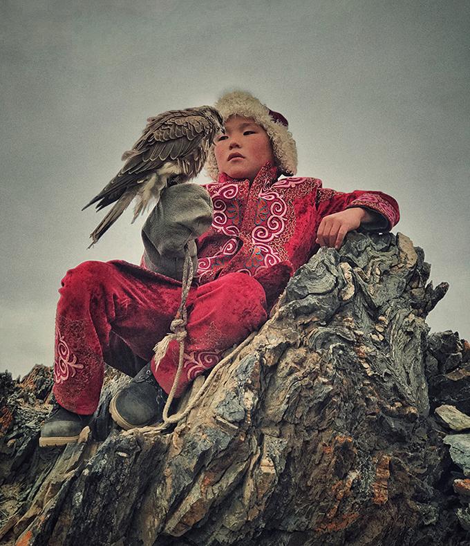 «Майбутній мисливець з орлами». Світлина: Mona Jumaan