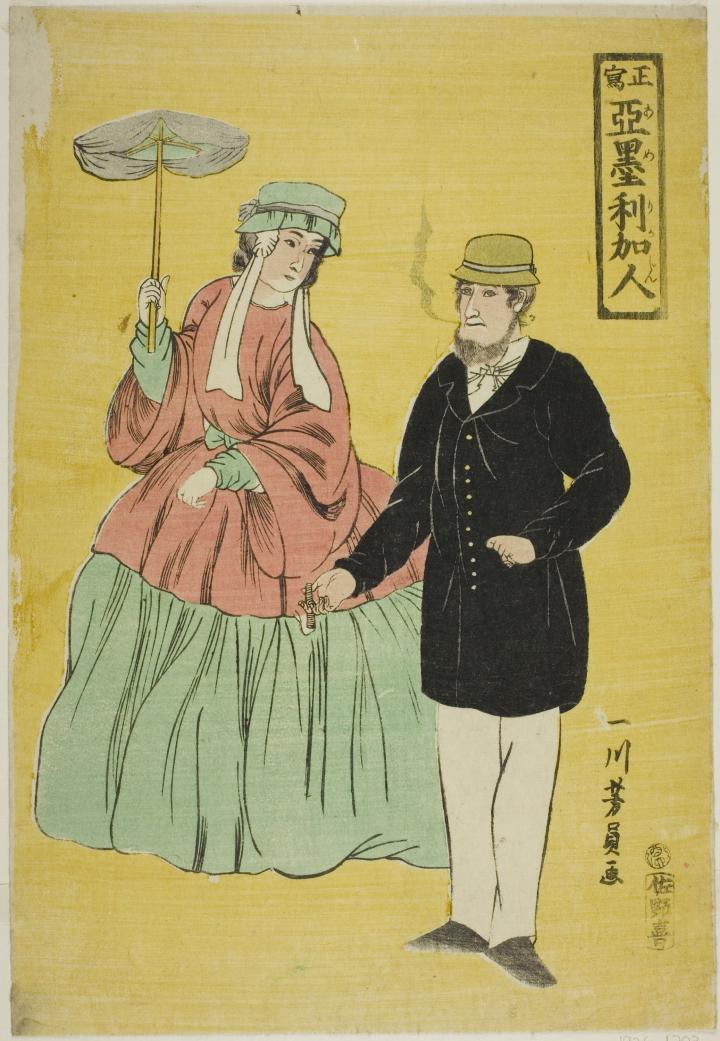 Утагава Йосікадзу. Американці, 1861