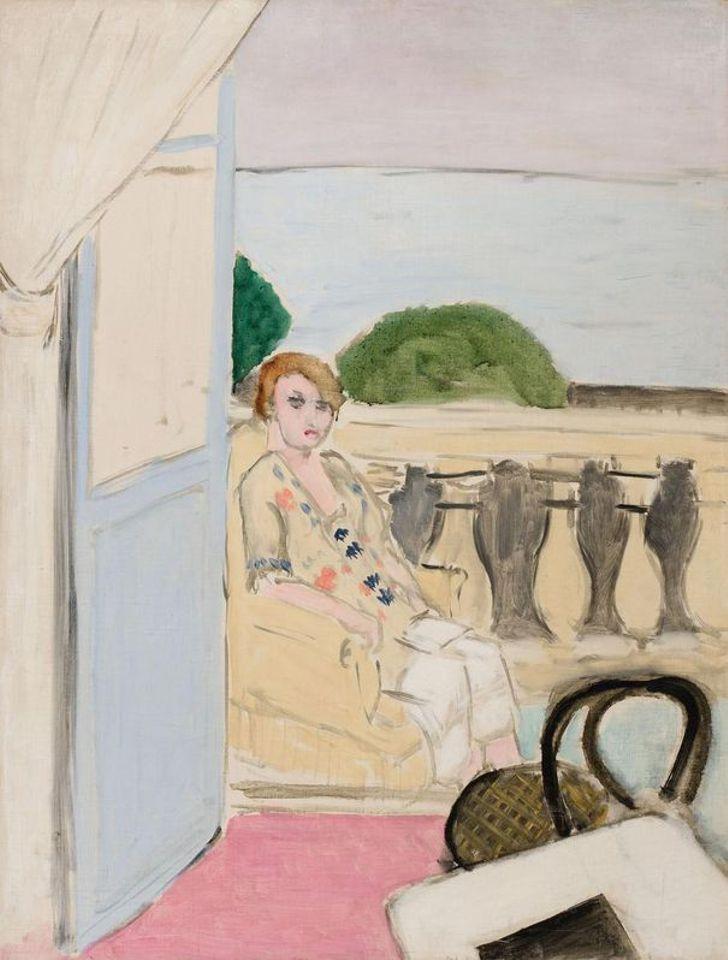 Матісс «Жінка сидить на балконі» 1919