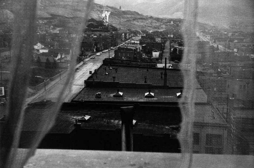 «View From Hotel Window — Butte, Montana», 1956