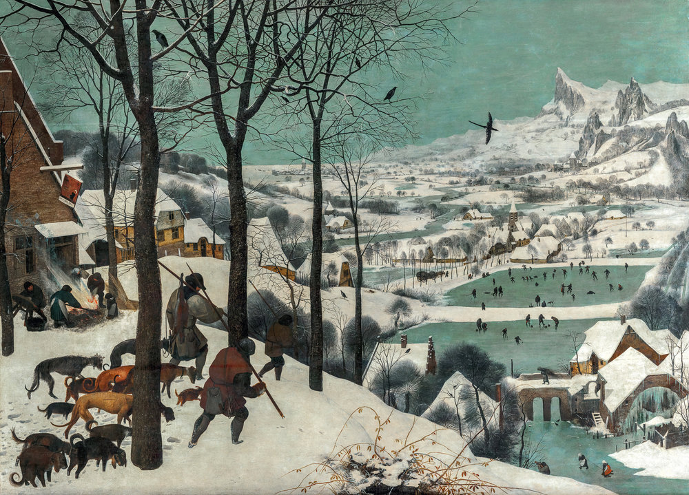 """«Мисливці на снігу. Цикл """"Пори року"""", січень»"""