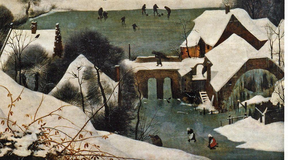 """«Мисливці на снігу. Цикл """"Пори року"""", січень» (деталі)"""
