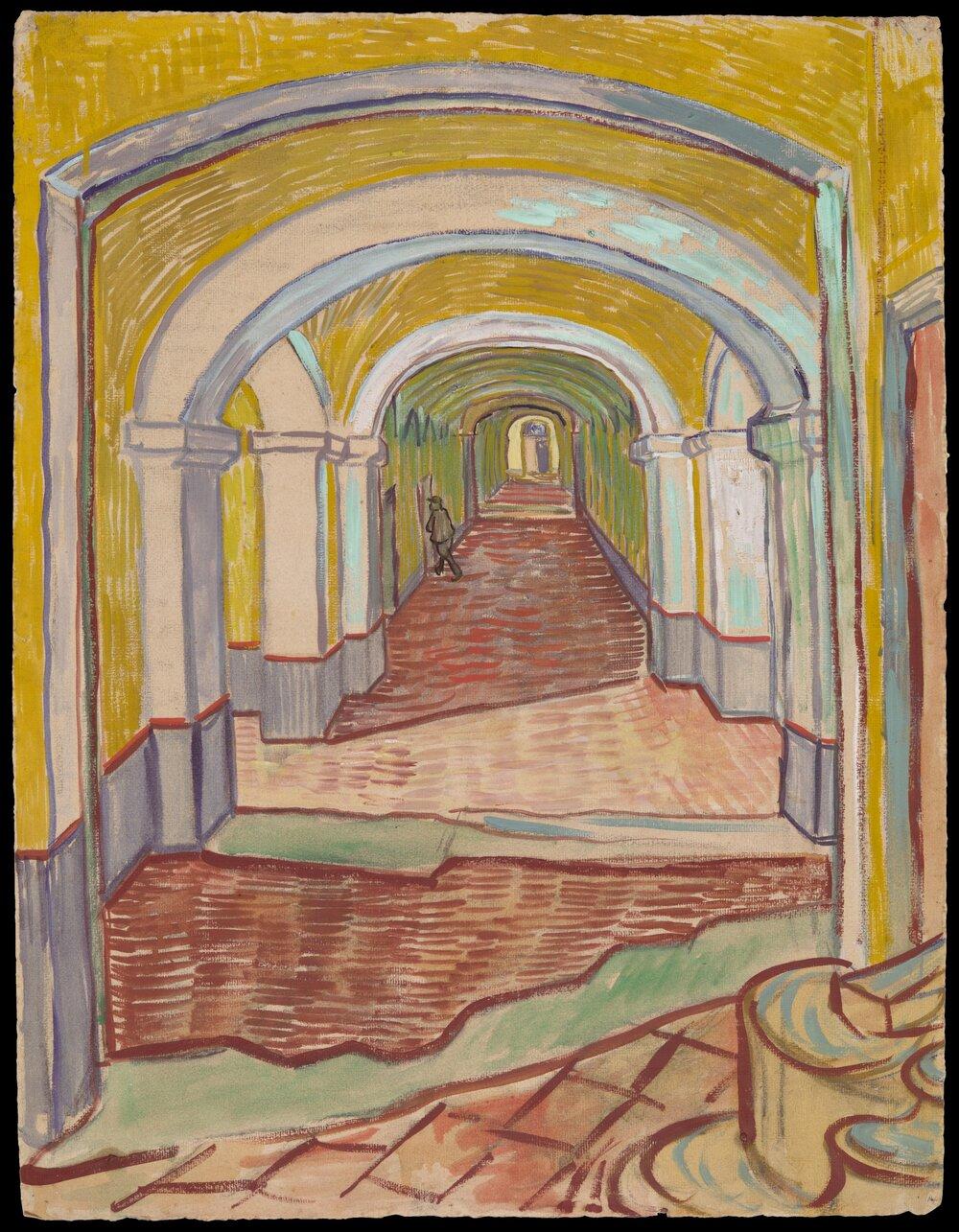 Вінсент ван Гог, Corridor in the Asylum, 1889