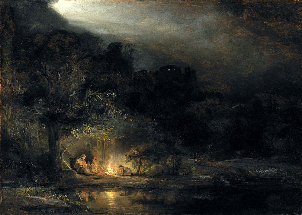 Рембрандт. «Відпочинок на шляху до Єгипту». 1645-1650. Світлина: National Gallery of Ireland