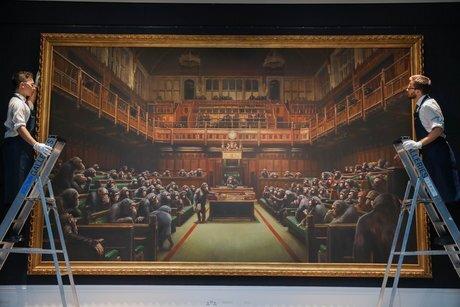 Бенксі, Devolved Parliament. 2009. Світлина: Sotheby's