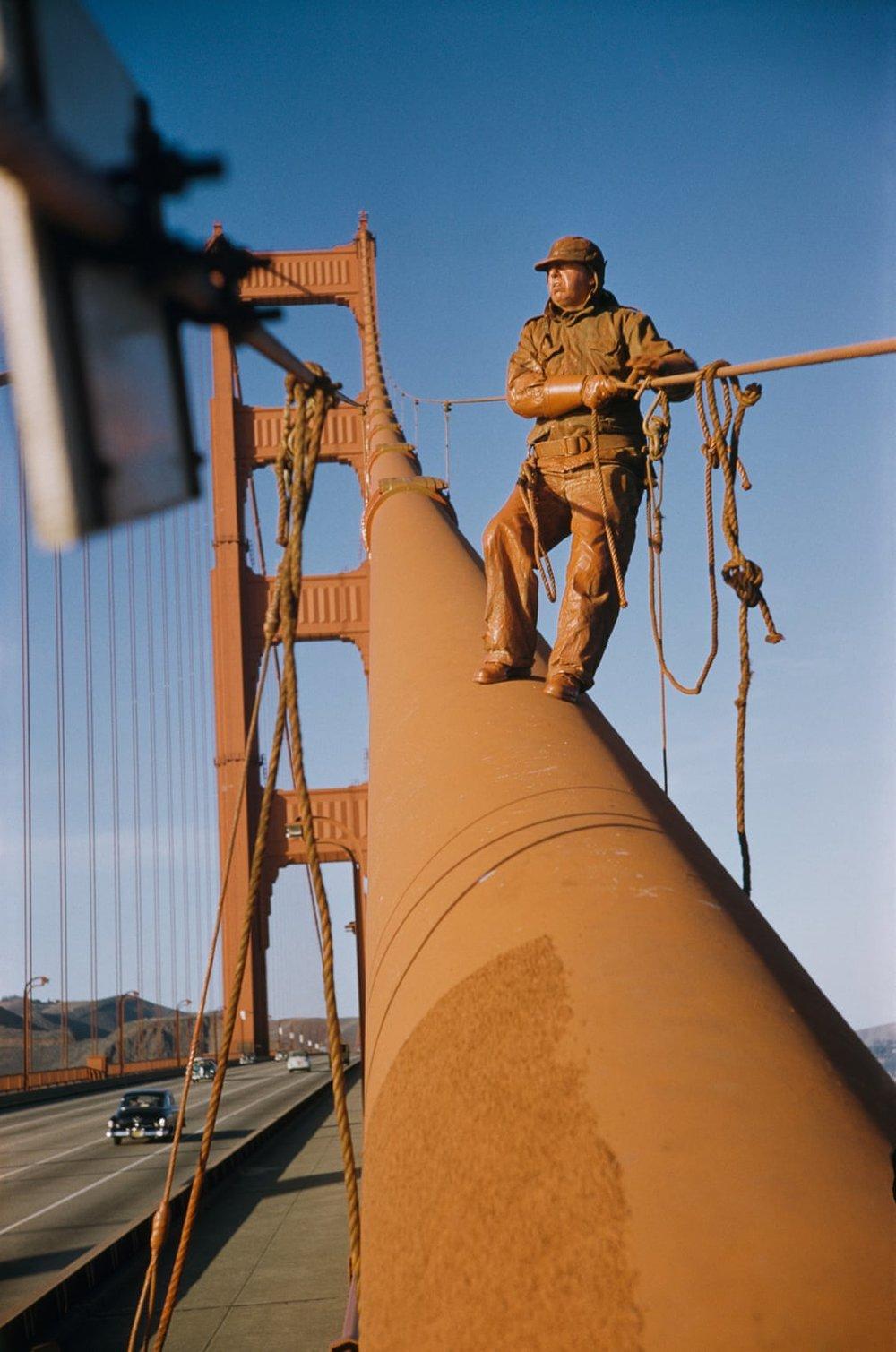 Художник на мосту Золоті ворота, Сан-Франциско, 1953.
