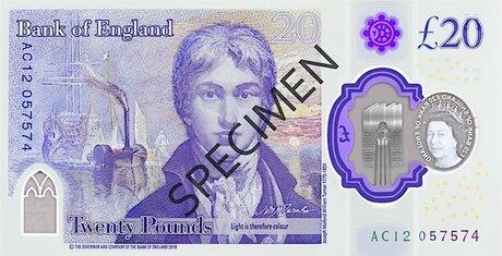 Банкнота у 20 фунтів. Світлина:   artlyst
