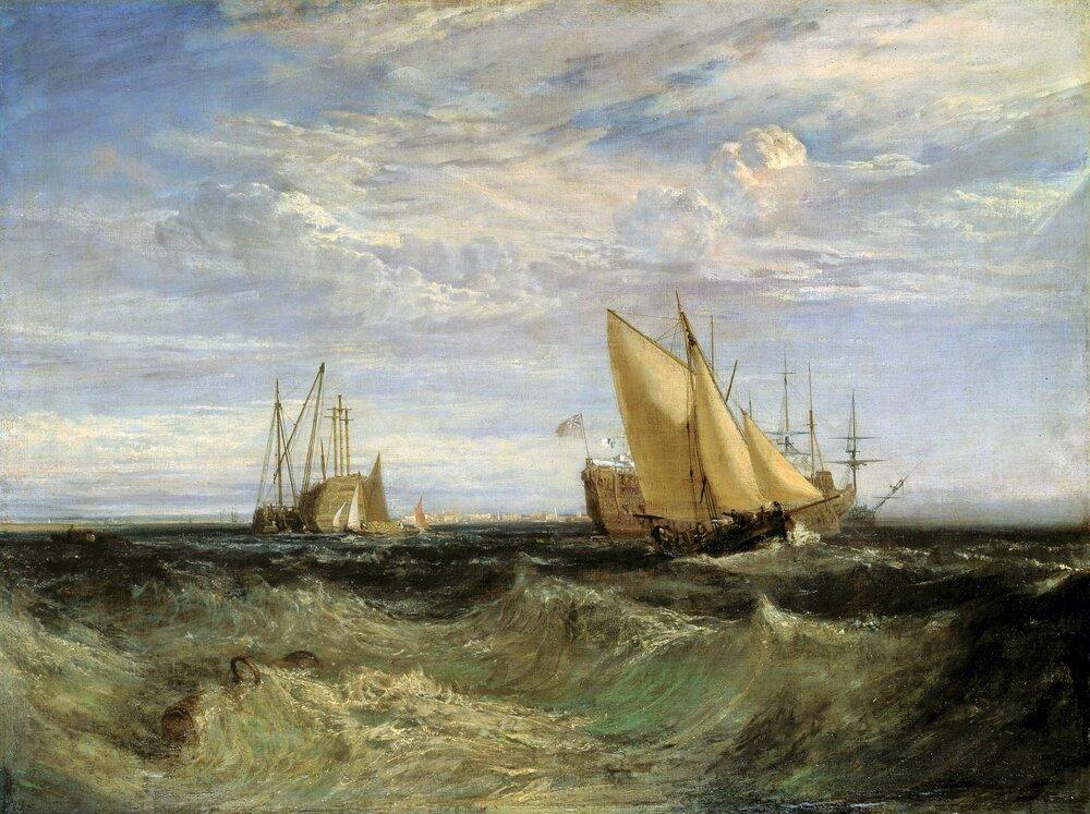 Вільям Тернер, The Confluence of the Thames and the Medway. Світлина:  tate