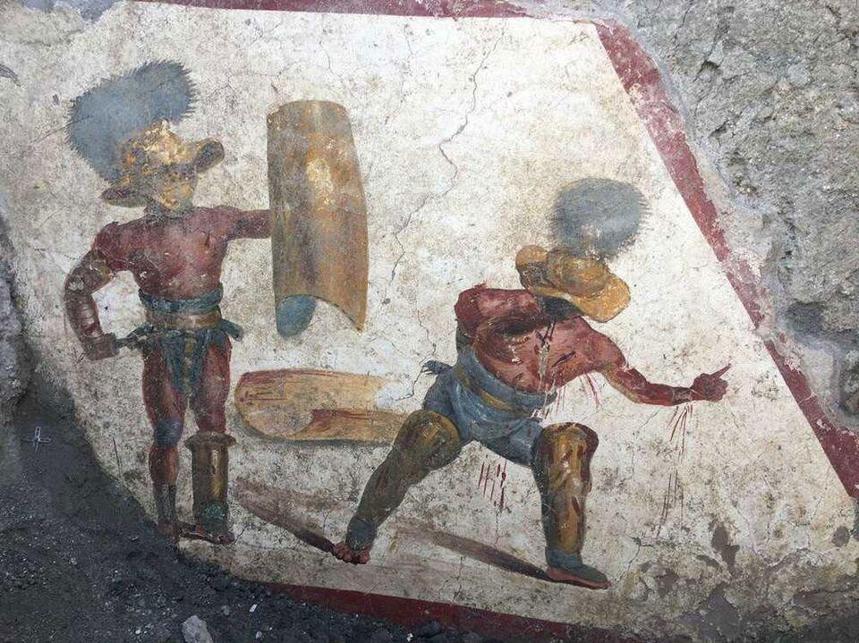 Фреска бою гладіаторів. Світлина: Italian Cultural Ministry