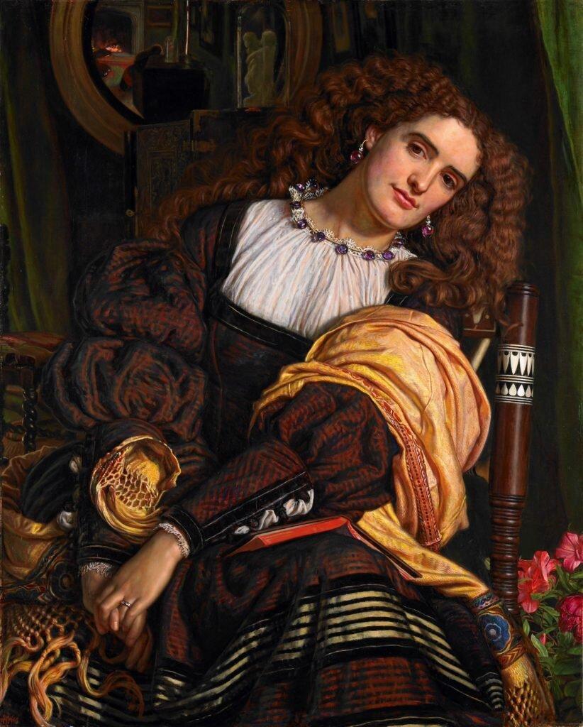 Гант Вільям Холман, Il Dolce far Niente, 1866 (на картині Енні Міллер). Світлина: Private collection, care of Grant Ford Ltd