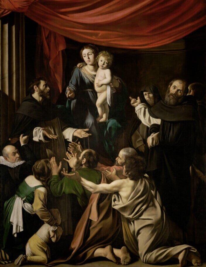 Караваджо, «Мадо́нна із чо́тками». Світлина: KHM-Museumsverband