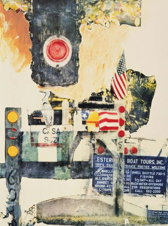 Robert Rauschenberg, Coda, 10 color screenprint, 2003